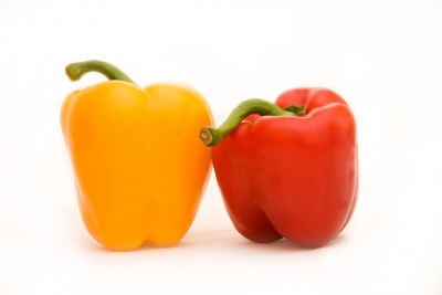 red and yellow bell peppers bring antioxidants and other nutrients which are good for stopping the ravages of time