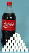 much of the sugar consumed is through drinking too many soft drinks, like coca cola which contains a very high proportion of sugar and is very bad for the health