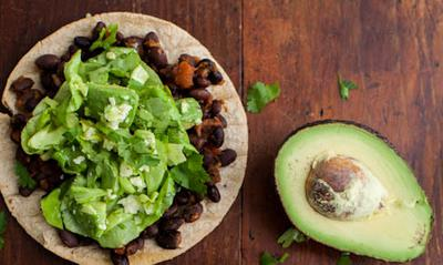 black beans and avocado . a marriage made in heaven