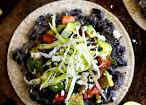 layer the ingredients onto your tostadas