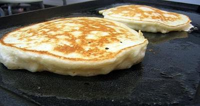 Cooking pancakes on the griddle is another option