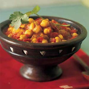 Healthy and hearty vegetable garbanzo stew for lunch or dinner