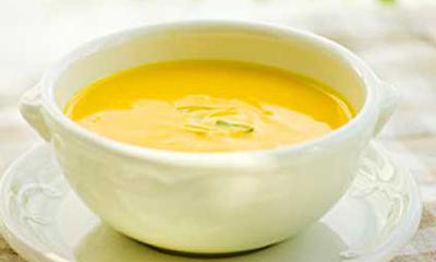 Warm soup with health benefits