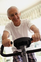 an exercise bike is one way to help shift body fat stored in the hips and stomach