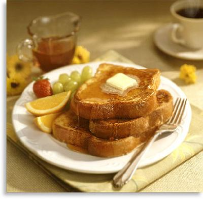 Healthy French Toast, a special treat for healthy, happy holidays