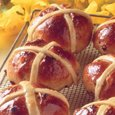 A  tasty bread traditionally eaten on the Friday before Easter