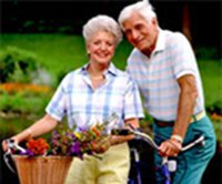 Senior Health depends on keeping fit and active - eat well, look well, feel well and stay well