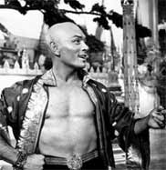 Baldness is often seen as attractive in males and young men often shave their heads - Yul Brynner was one of the trendsetters